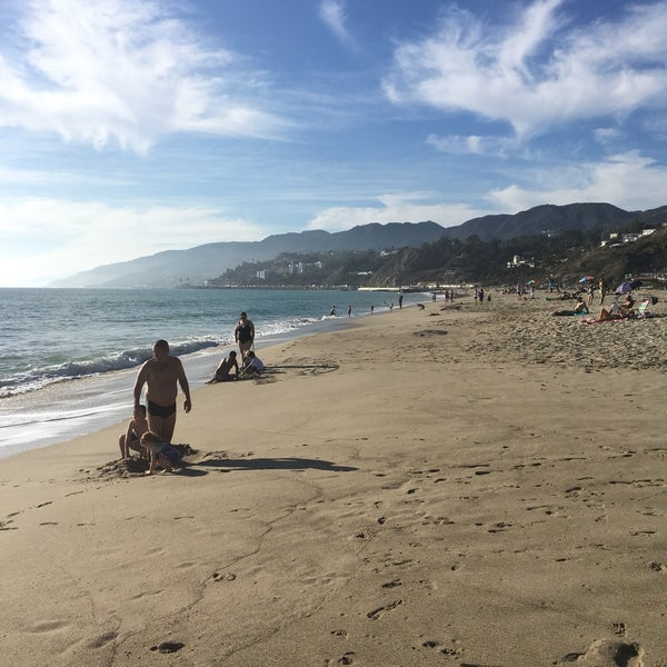 Photo taken at Pacific Palisades Beach by Niusha S. on 10/22/2016