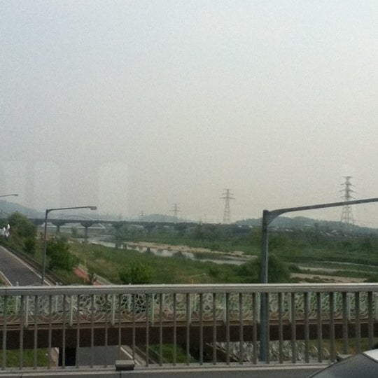 Photo taken at 광평교 by Minnie L. on 5/10/2012