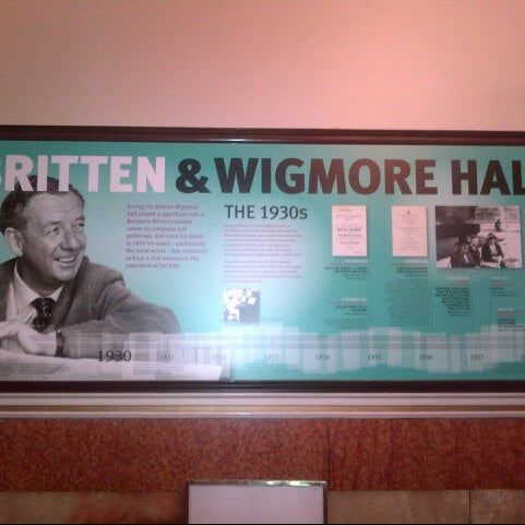 Photo taken at Wigmore Hall by Meri G. on 12/1/2013