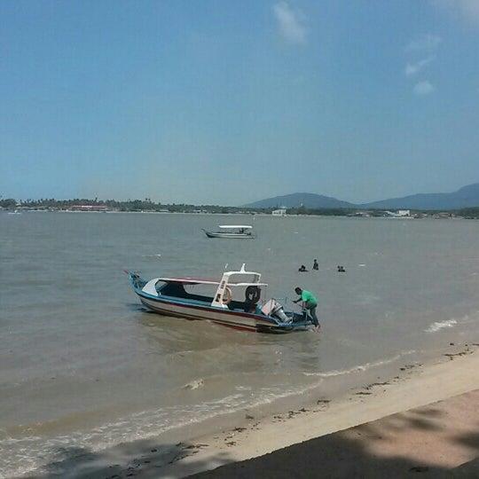 Photo taken at Tanjung Dawai by Ain Syafiqah A. on 1/12/2016