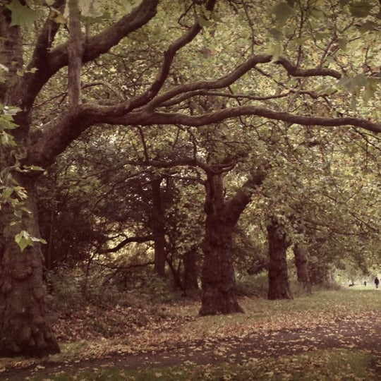 Photo taken at Clapham Common by Sonali F. on 10/13/2012