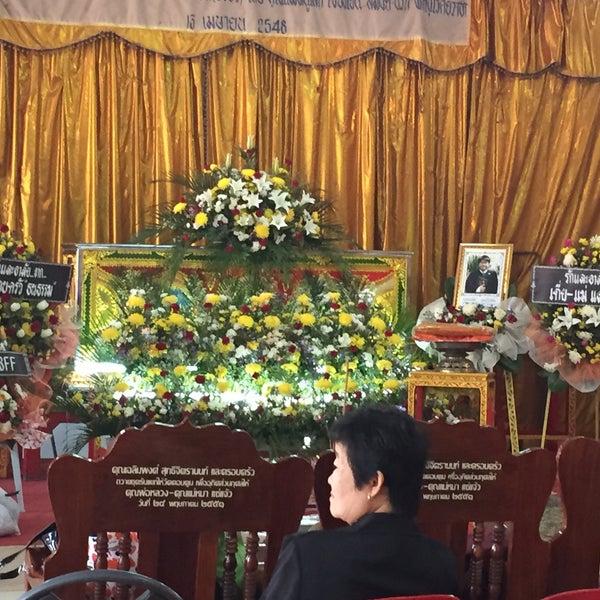 Photo taken at วัดดอนตูม บ้านโป่ง by Ying S on 3/8/2015