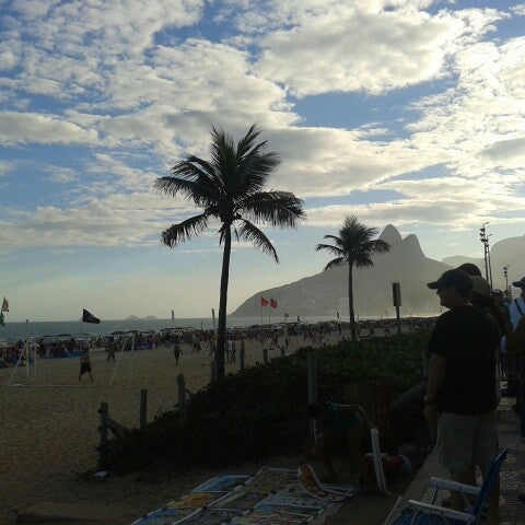 Photo taken at Praia de Ipanema by Andreza G. on 7/6/2014