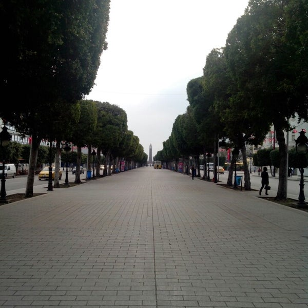 Photo taken at Avenue Habib Bourguiba I شارع الحبيب بورقيبة by Mohamed B. on 3/16/2014