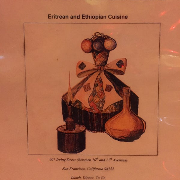 Photo taken at New Eritrea Restaurant & Bar by Andrew D. on 1/6/2016