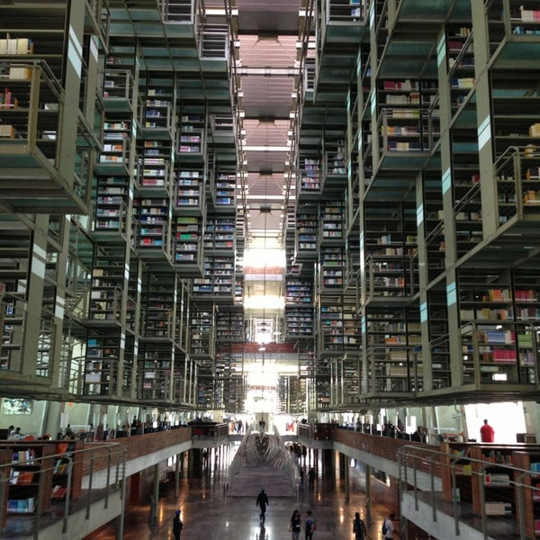 Photo taken at Biblioteca Vasconcelos by Roberto J. on 7/27/2013