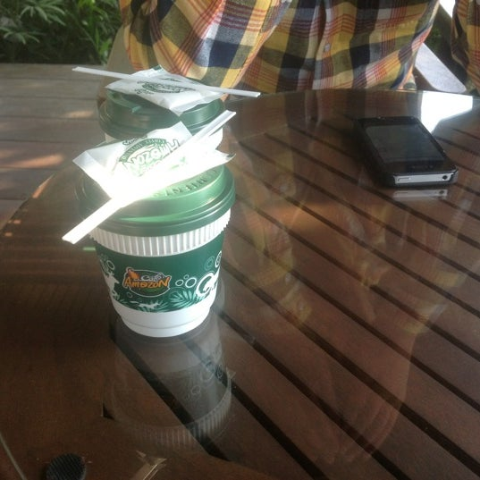 Photo taken at Cafe' Amazon @ PTT Pakthongchai by MaK on 12/28/2012