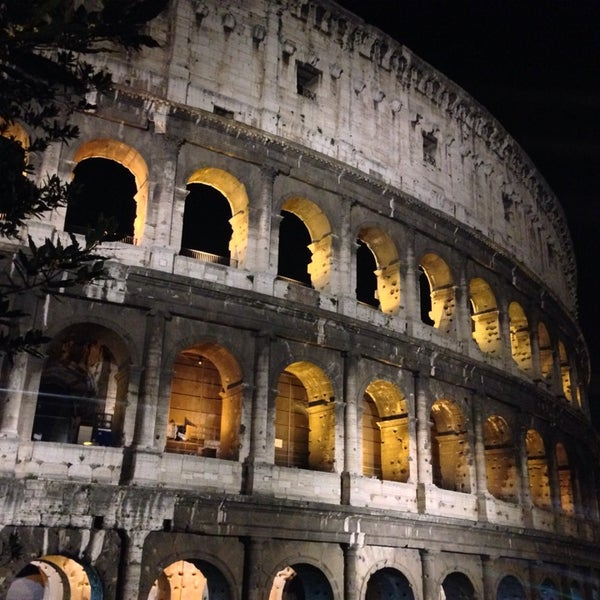 Photo taken at Piazza del Colosseo by Arabear on 3/7/2014