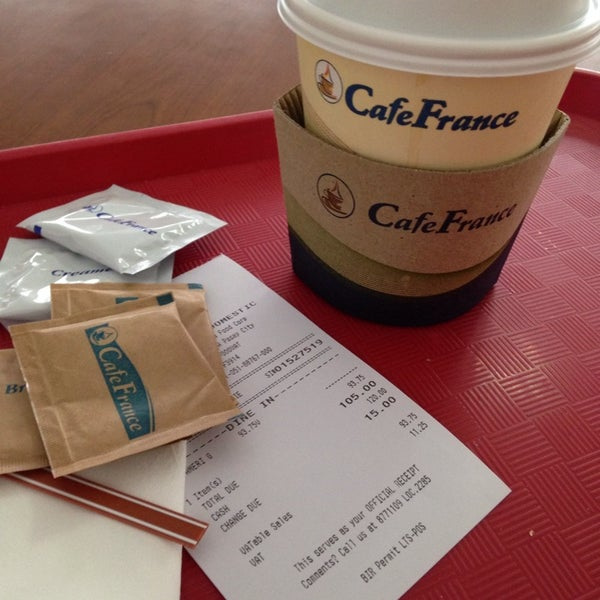 Photo taken at Café France by Cecil C. on 11/8/2014