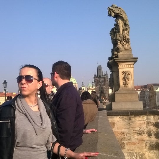 Photo taken at Karlův most | Charles Bridge by Aedd G. on 3/14/2014