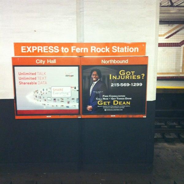 Photo taken at SEPTA MFL/TRL 15th Street Station by Tgv R. on 2/5/2013