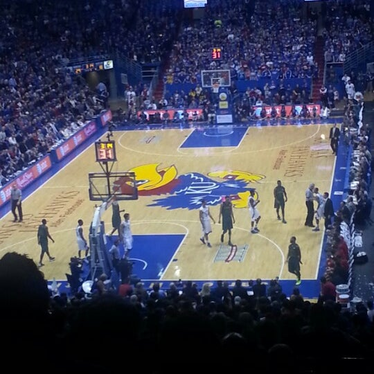 Photo taken at Allen Fieldhouse by James E. on 1/15/2013