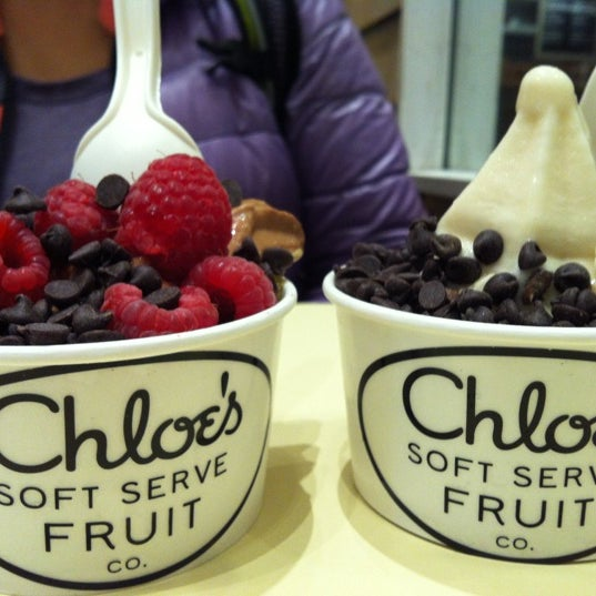 Photo taken at Chloe's Soft Serve Fruit Co. by Sharon P. on 11/29/2012