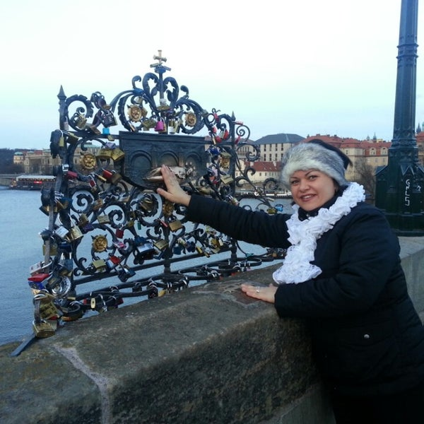 Photo taken at Karlův most | Charles Bridge by Victoria S. on 3/15/2014
