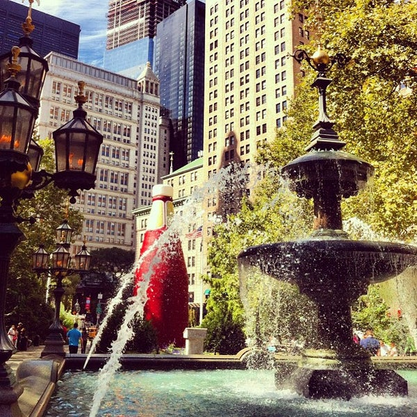 Photo taken at City Hall Park by Seth W. on 9/19/2012