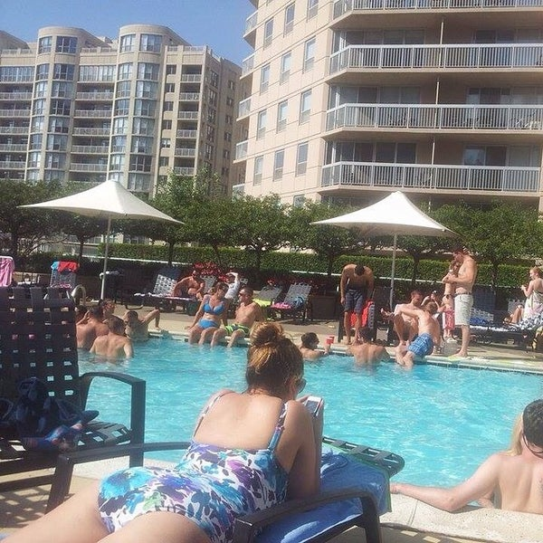 Photo taken at Grand Plaza Pool by Galina M. on 8/31/2014