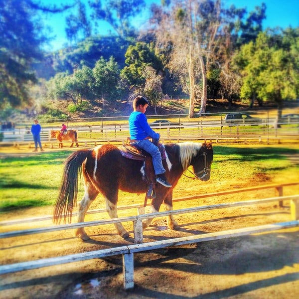 Photo taken at Griffith Park Pony Rides by Xhico on 1/1/2015