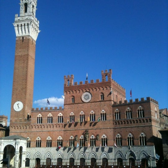 Photo taken at Piazza del Campo by Stefano P. on 8/15/2012