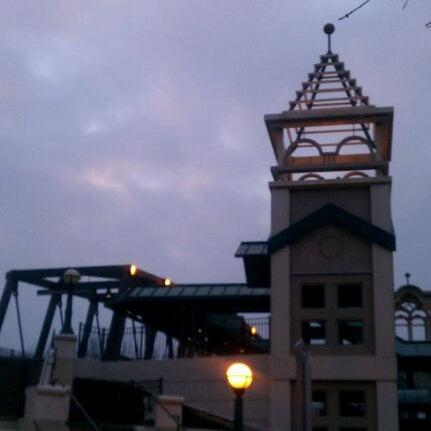Photo taken at John T. Myers Pedestrian Bridge by Valentin S. on 3/3/2012
