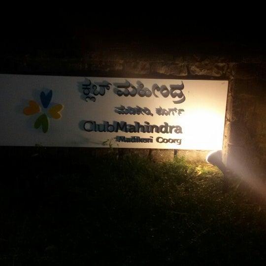 Photo taken at Club Mahindra Madikeri, Coorg by Sagar M. on 5/15/2014