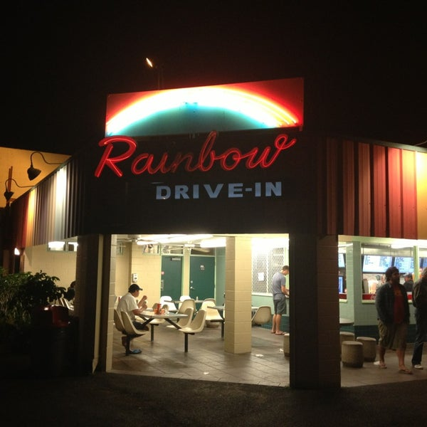 Photo taken at Rainbow Drive-in by Jason C. on 2/12/2013
