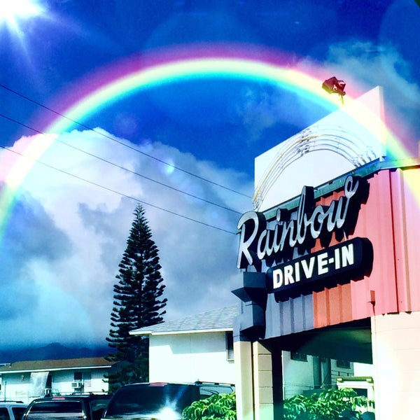 Photo taken at Rainbow Drive-in by Kimberly N. on 7/8/2015