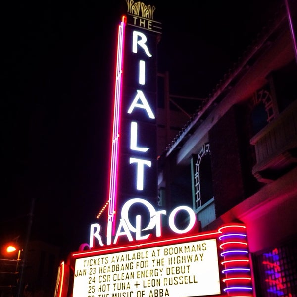 Photo taken at The Rialto Theatre by Adrian F. on 1/11/2014