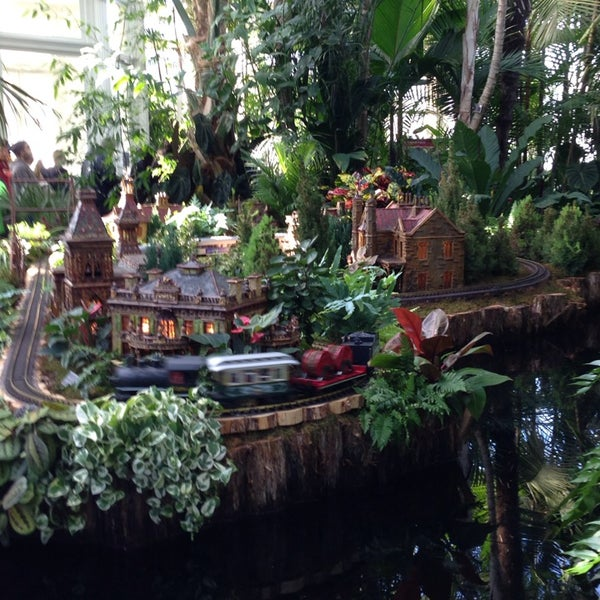 Photo taken at Enid A. Haupt Conservatory by Lexi P. on 1/4/2014