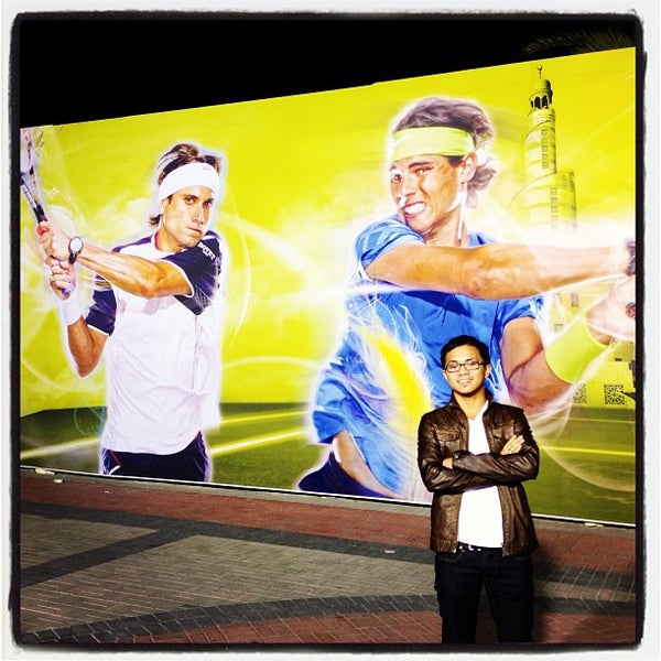 Photo taken at Qatar Tennis Federation by Yvo G. on 1/1/2013