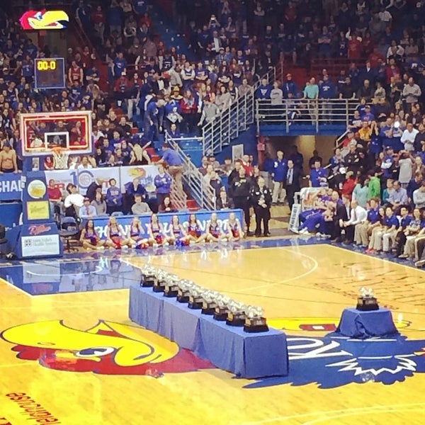 Photo taken at Allen Fieldhouse by Ed D. on 3/6/2014