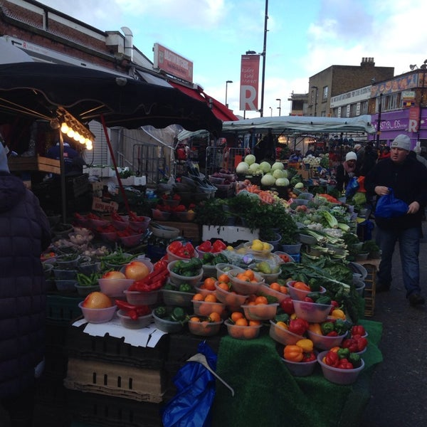 Photo taken at Ridley Road Market by Greg O. on 2/15/2014