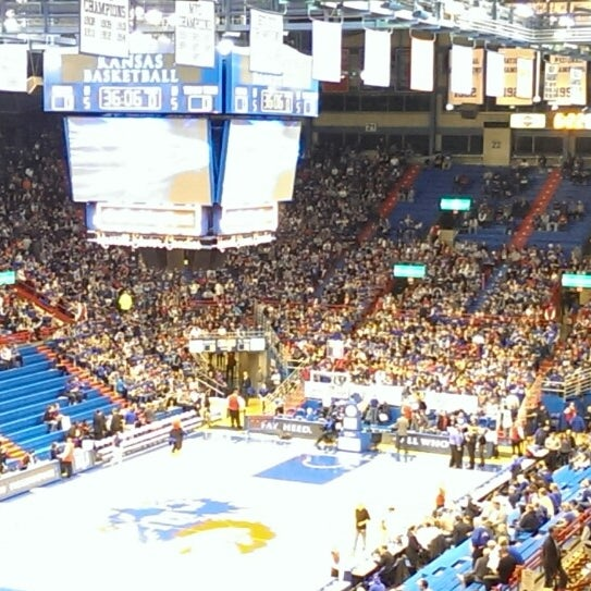 Photo taken at Allen Fieldhouse by Jeff R. on 3/6/2014