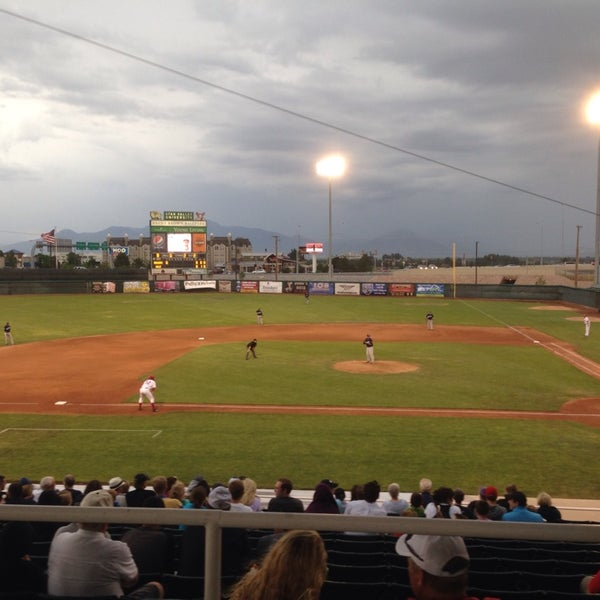 Photo taken at Home of the Owlz (Brent Brown Ballpark) by Tim G. on 7/11/2014