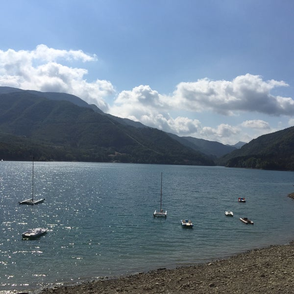 Photo taken at Lago di Suviana by Yatta M. on 8/21/2016