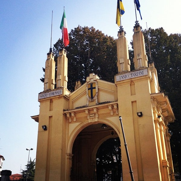 Photo taken at Stadio Ennio Tardini by Tommaso C. on 10/21/2012