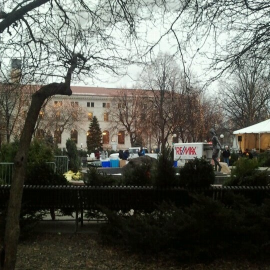 Photo taken at Rice Park by Lisa D. on 1/24/2013