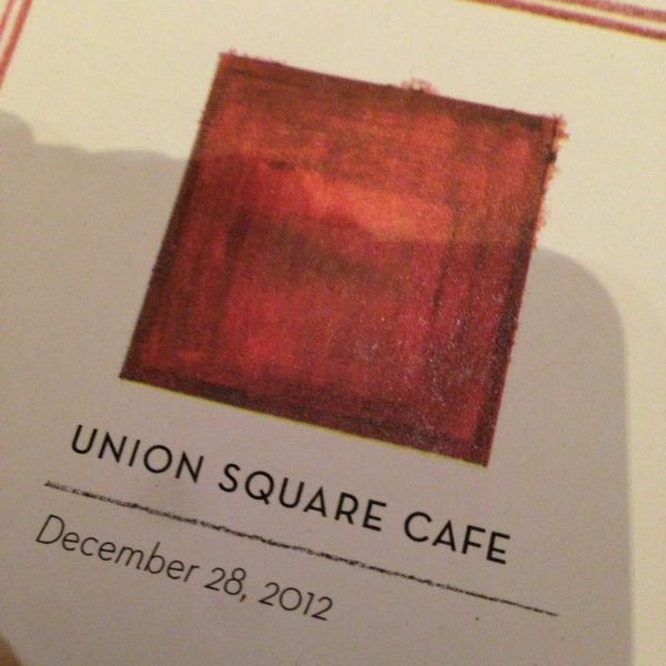 Photo taken at Union Square Cafe by Mat Z. on 12/28/2012
