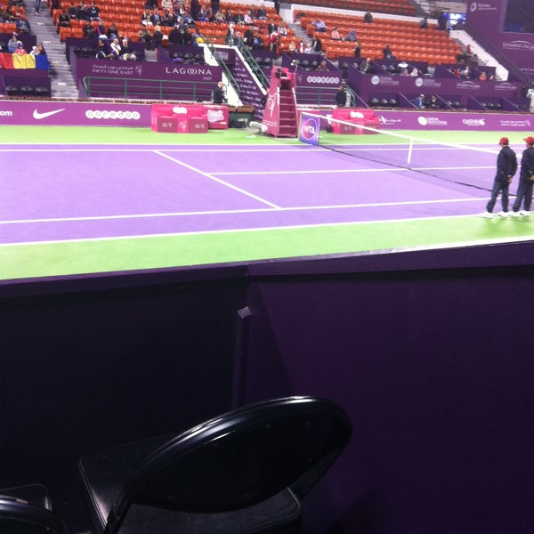 Photo taken at Qatar Tennis Federation by Athanatchie G. on 2/25/2015