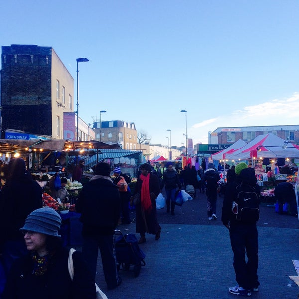 Photo taken at Ridley Road Market by Sandra S. on 12/13/2014