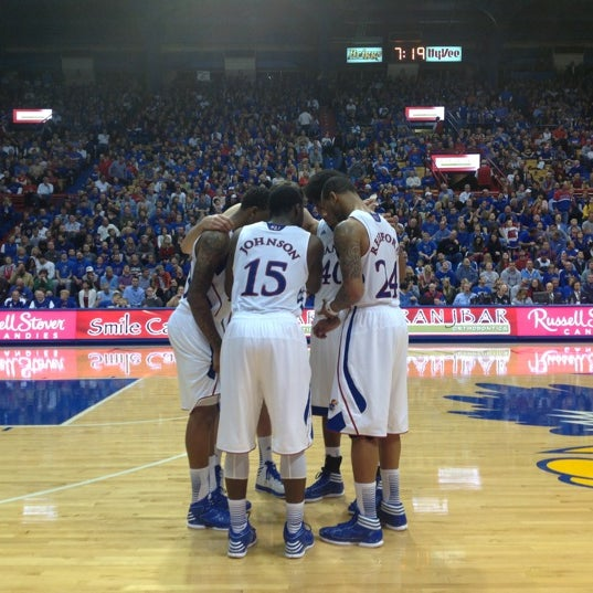 Photo taken at Allen Fieldhouse by Kyle B. on 12/16/2012