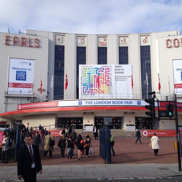 Photo taken at Earls Court Exhibition Centre by Luiz Alvaro S. on 4/15/2013