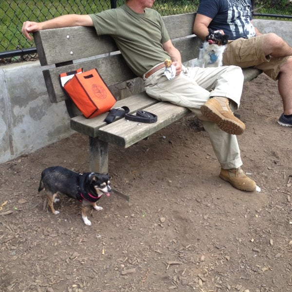 Photo taken at Cunningham Park Dog Run by Muna R. on 7/30/2014