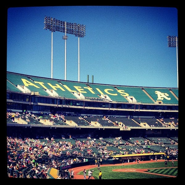 Photo taken at O.co Coliseum by Eden E. on 5/1/2013