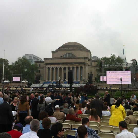 Photo taken at South Lawn Columbia University by Gil L. on 5/16/2012