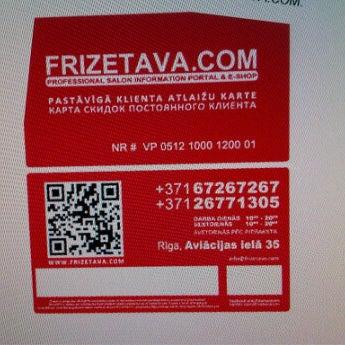 Photo taken at Frizetava.com - skaistuma studija, solārijs un kafejnīca by Frizetava.com s. on 5/11/2012