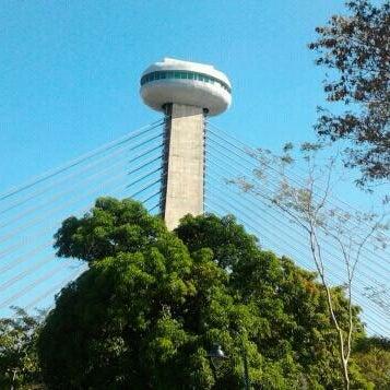 Photo taken at Ponte Estaiada by Wallyson M. on 2/26/2012
