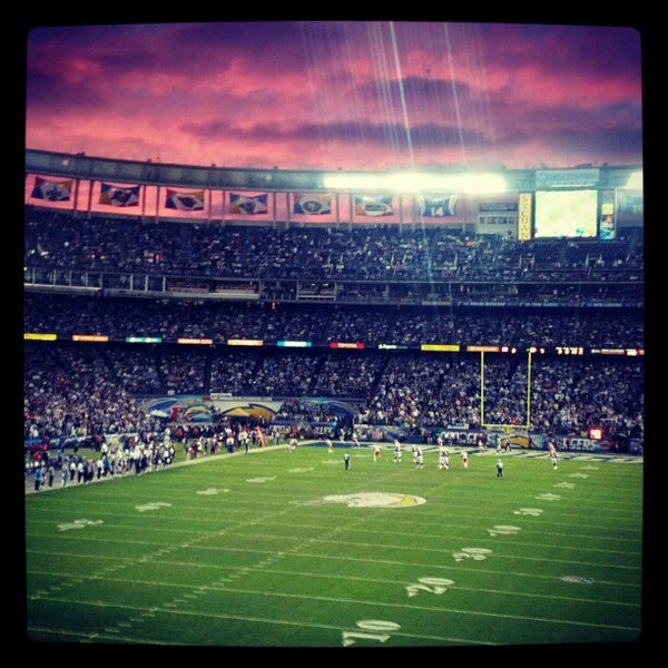 Photo taken at Qualcomm Stadium by Brian D. on 11/2/2012