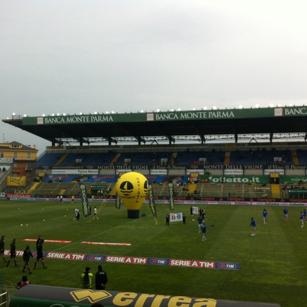Photo taken at Stadio Ennio Tardini by Saverio C. on 5/5/2013