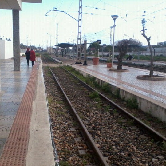 Photo taken at Gare de Mohammédia  محطة المحمدية by Yassine S. on 12/26/2012