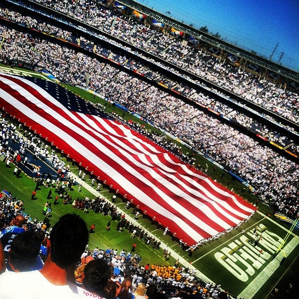 Photo taken at Qualcomm Stadium by Calvin C. on 9/16/2012